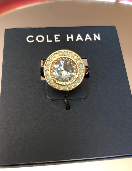 Cole Haan Mint Green Crystals/Gold Tone Logo Ring Cole Haan Mint Green Crystals/Gold Tone Logo Ring Image 7