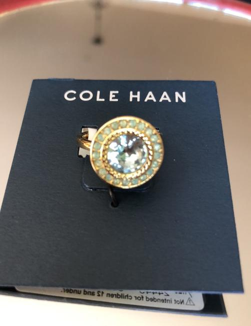 Cole Haan Mint Green Crystals/Gold Tone Logo Ring Cole Haan Mint Green Crystals/Gold Tone Logo Ring Image 8