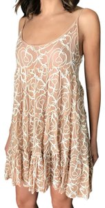 Rebecca Minkoff short dress pink and with white detail on Tradesy