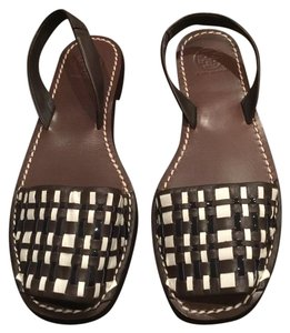 Tory Burch Woven Summer Brown Print Sandals