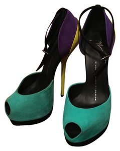 Giuseppe Zanotti Turquoise, Purple, Yellow Sandals