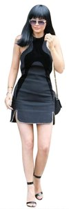 Alexander Wang Velvet Paneled Ball Chain Wool Dress
