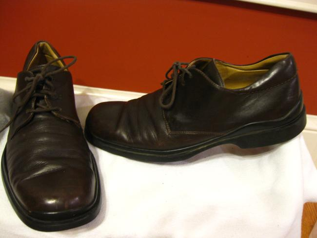 Item - Brown Mens Leather Oxfords 9d Shoes
