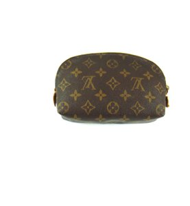 Louis Vuitton Demi Ronde 19 Damier Canvas Leather Toilette Travel Dopp Bag