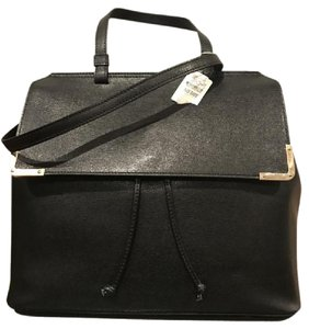 Zac Posen Leather Tag New Satchel in Black