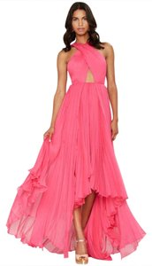 Nasty Gal Prom Backless Cut-out Halter Crisscross Strap Dress