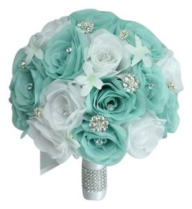 Bouquet Set Of 17 Including Bridesmaids And Groomsmen Flowers