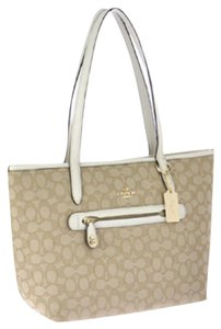 Coach Satchel Taylor Tote in chalk white