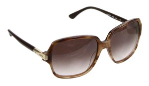Chloé Large Framed Brown And Gold Sunglasses