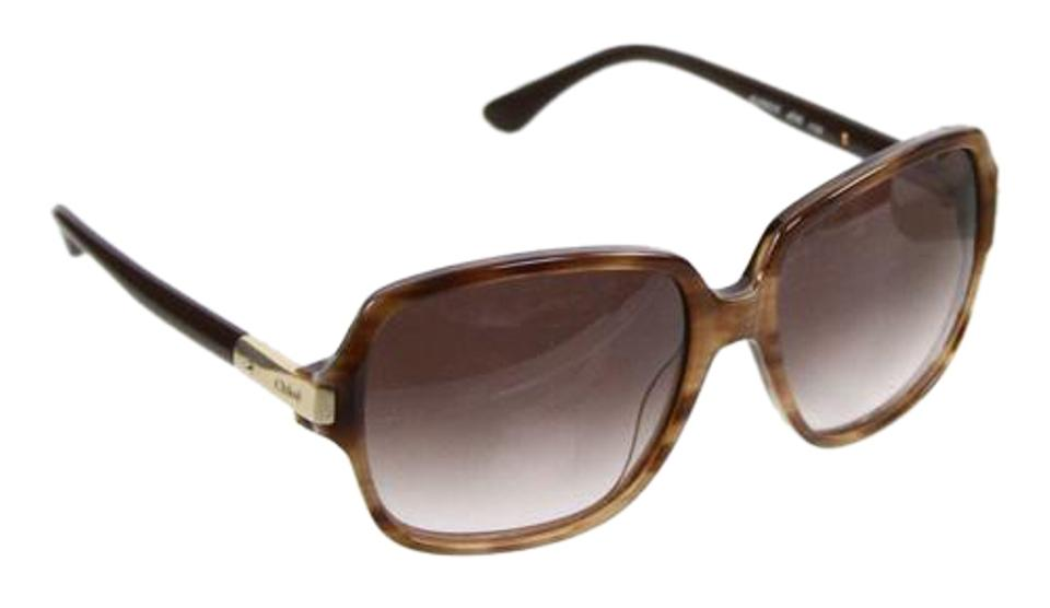 ad23bd1833b8 Chloé SALE Large Square Framed Tortoise Brown   Gold Sunglasses And Case  IOB Image 0 ...