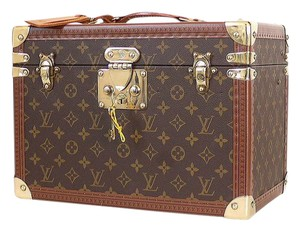 Louis Vuitton Beauty Case Trunk Hardsided Brown Travel Bag