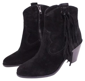 Ash Black Leather Ankle Boots Black Boots