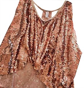 Free People Top Rose Gold Pink