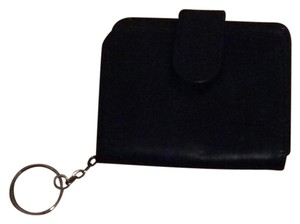 Wilsons Leather Wilson Black Leather Wallet I.D. Window and Key Chain