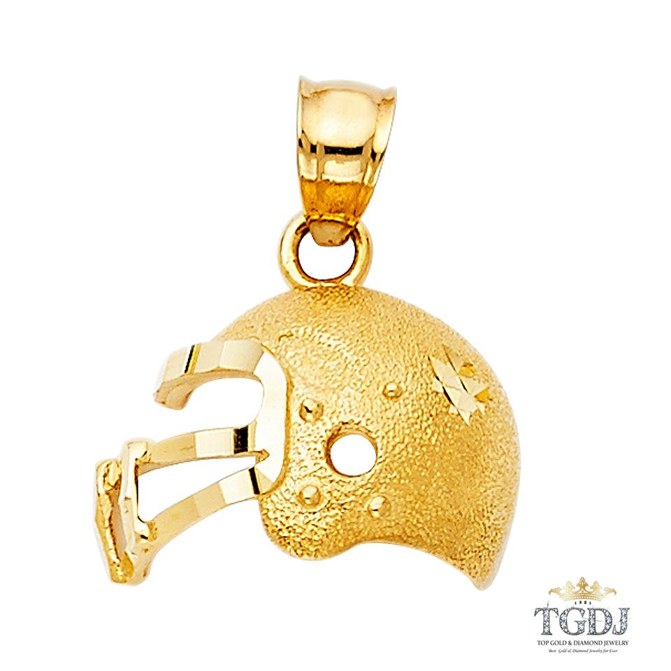 Yellow football helmetpendant 14k football helmet pendant charm top gold diamond jewelry football helmetpendant 14k yellow gold football helmet pendant aloadofball Image collections