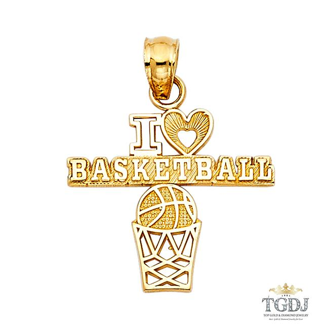 Top Gold & Diamond Jewelry Yellow Basketball Pendant 14k Basket Ball Pendant Charm Top Gold & Diamond Jewelry Yellow Basketball Pendant 14k Basket Ball Pendant Charm Image 1