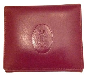 Cartier Cartier Trifold Red Leather Wallet
