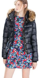 Zara Quilted Faux Fur Winter Hooded Coat