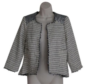 The Limited Cropped Sequin Tweed Jacket