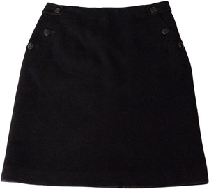 J.Crew Wool Cashmere Skirt Black