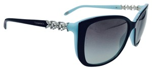 Tiffany & Co. Austrian Crystal Butterfly Black Square Sunglasses TF 4090-B 8055/3C