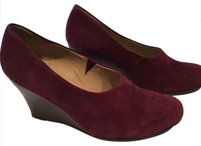 Item - Raisin (A Grape-ish Burgundy) Smart Suede Wedges Size US 7.5 Regular (M, B)