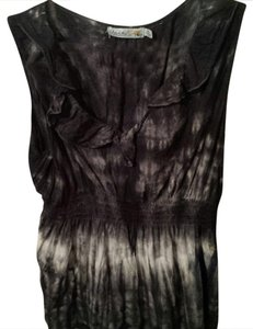 Unity World Wear Top Black, white tie dye
