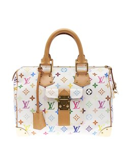 Louis Vuitton Monogram Coated Canvas Satchel in Multi-Color