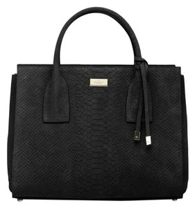 Kate Spade Elisie Meriwether Python Satchel Wkru3498 Tote in Black