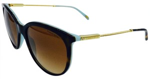 Tiffany & Co. Classic Gold Havana Twisted Chain Round Sunglasses 4087-B 8134/3B
