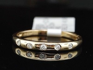 14k Ladies Yellow Gold Diamond Wedding Engagement Band Bridal Anniversary Ring