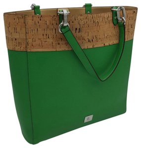 Lauren Ralph Lauren Leather Hanway Tote in GREEN