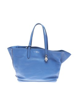 Alexander McQueen Leather Tote in Blue