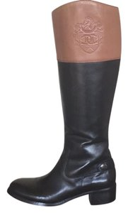Etienne Aigner black with a yellowish brown top Boots