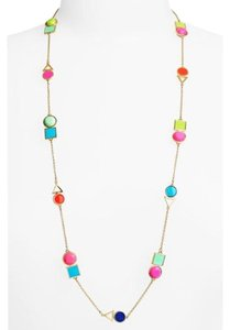 Kate Spade Super Cute Multi-Colored Ipanema Tile Mixed Station Necklace
