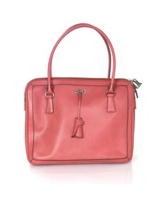 Salvatore Ferragamo Ferragamo Leather Tote in Salmon