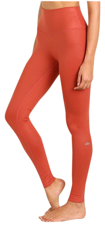 bcbc793569d6a Alo Alo Yoga High Waist Airbrush Legging Sunbaked Glossy Size L NWT Image 0  ...