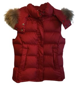 Theory down vest with real fur trim Vest