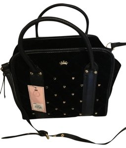 Juicy Couture Studded Convertible Satchel in Black