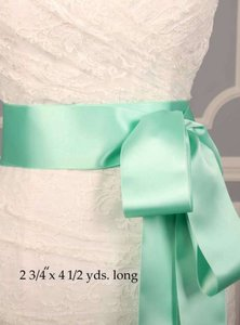 Spearmint Green Ribbon Sash Sashes