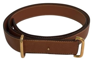 Hermès Hermes Brown Belt with Gold toned Buckle