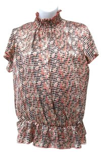 Jennifer Lloyd Graphic Print Colorful Work Casual Top Multicolor