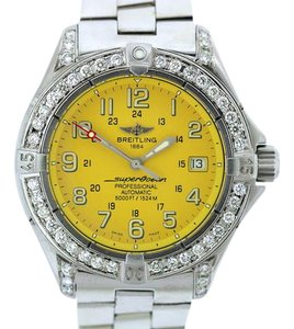 Breitling BREITLING SUPER OCEAN 2.5CT DIAMOND S/S WATCH W/ APPRAISAL