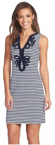 Lilly Pulitzer short dress Blue and White Lilly Nautical Preppy on Tradesy