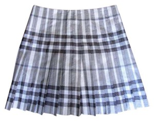Burberry Plaid Pleated Spring Mini Skirt