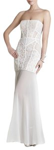 White and Cream Maxi Dress by BCBGMAXAZRIA