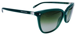 Tiffany & Co. Crystal Pearl Green Butterfly Sunglasses 4105-HB 8195/3M