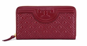 Tory Burch NEW!!! Tags Fleming Quilted Leather Zip Around Continental Wallet Bag