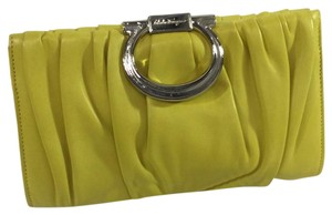 Salvatore Ferragamo yellow Clutch
