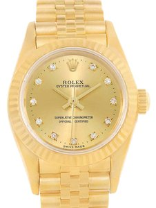 Rolex Rolex President Non Date 18K Yellow Gold Diamond Ladies Watch 76198